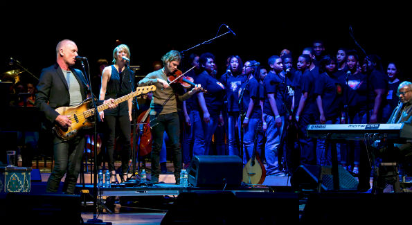 "Sting performED at The Strathmore for the Duke Ellington School of the Arts ""Performance Series of the Arts."" (courtesy photo)"