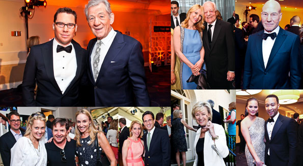Clockwise from top left: Brian Singer, Sir Ian McKellan, Claire Danes, Bob Scheiffer, Patrick Stewart, xxx and John Legend, Tina Brown, Dana Bash and Eric Cantor, Ali Wentworth, Michael J. Fox and Tracy Pollan (File photos)