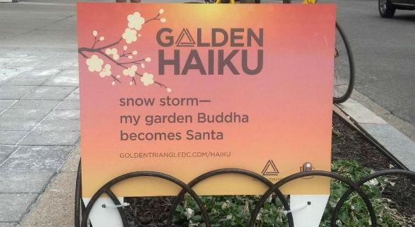 The winning haiku (Photo courtesy Golden Triangle BID Facebook page)