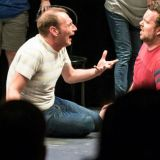 UCB actors Brandon Scott Jones and Connor Ratliff on stage at Woolly Mammoth