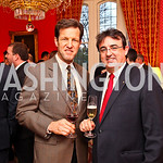 Rep. Russ Carnahan, Relais & Chateaux Président International and Chairman of the Board Jaume Tàpies. VIP reception for Relais & Chateaux Hotels. Photo by Tony Powell. French Ambassador's  ...