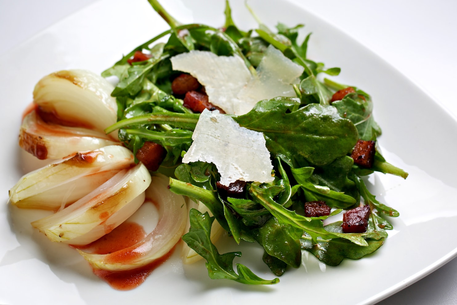 Gastrique Cuisine Roasted Young Onions With Strawberry Gastrique Bacon And