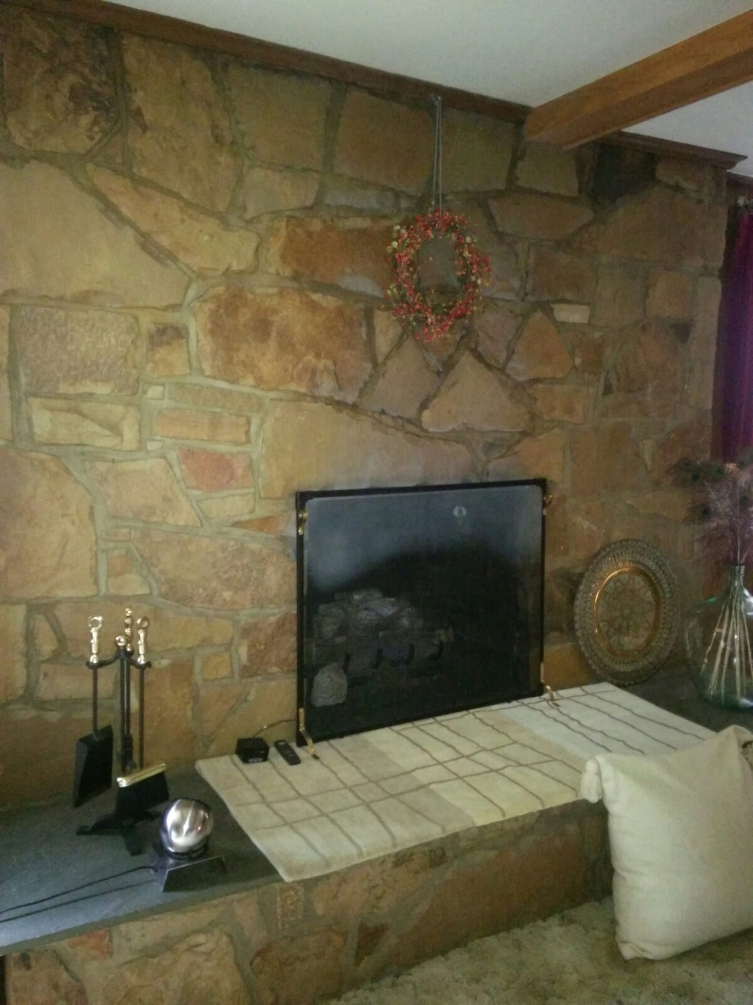 Fireplace Stone How To Update A Stone Facade Fireplace The Washington Post