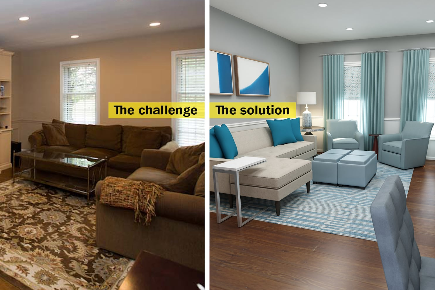 Comfortable Den Furniture To Conquer A Crowded Family Room Start By Getting Rid Of