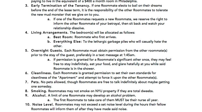 Roommate Agreement. Roommate Agreement Free-Roommate-Agreement