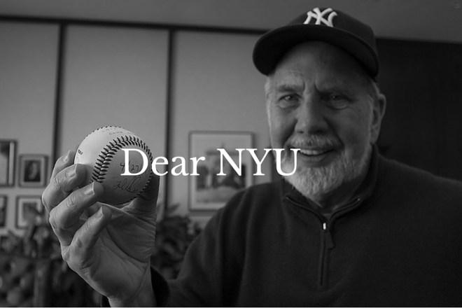 Dear NYU