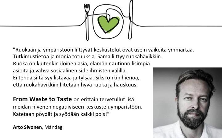 Arto Sivonen_suositus_Waste to Taste
