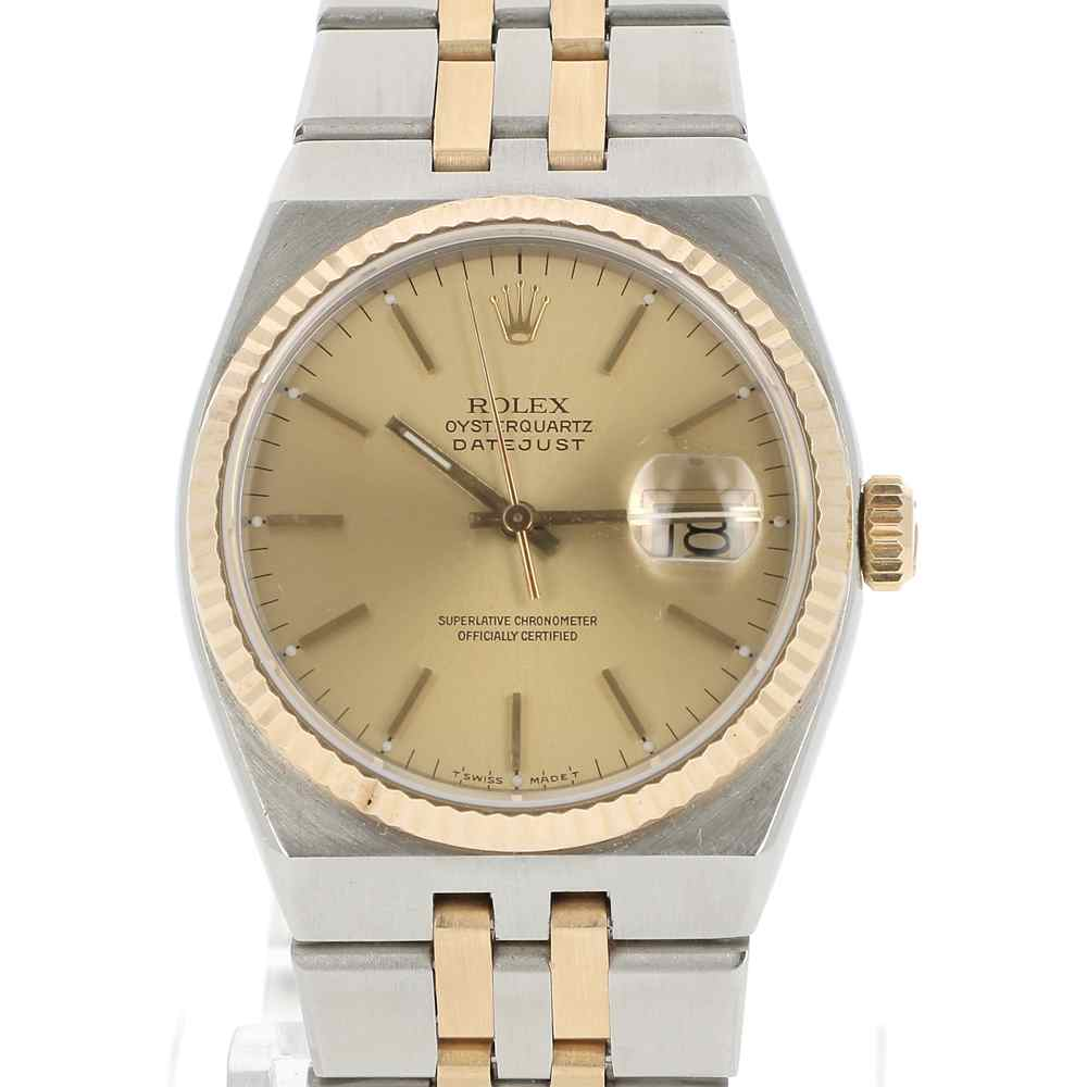 Rolex Second Hand Rolex Oyster Quartz Gold And Steel