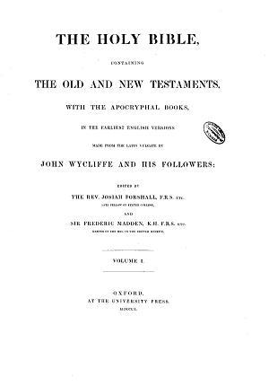 THE WYCLIFFE TRANSLATION