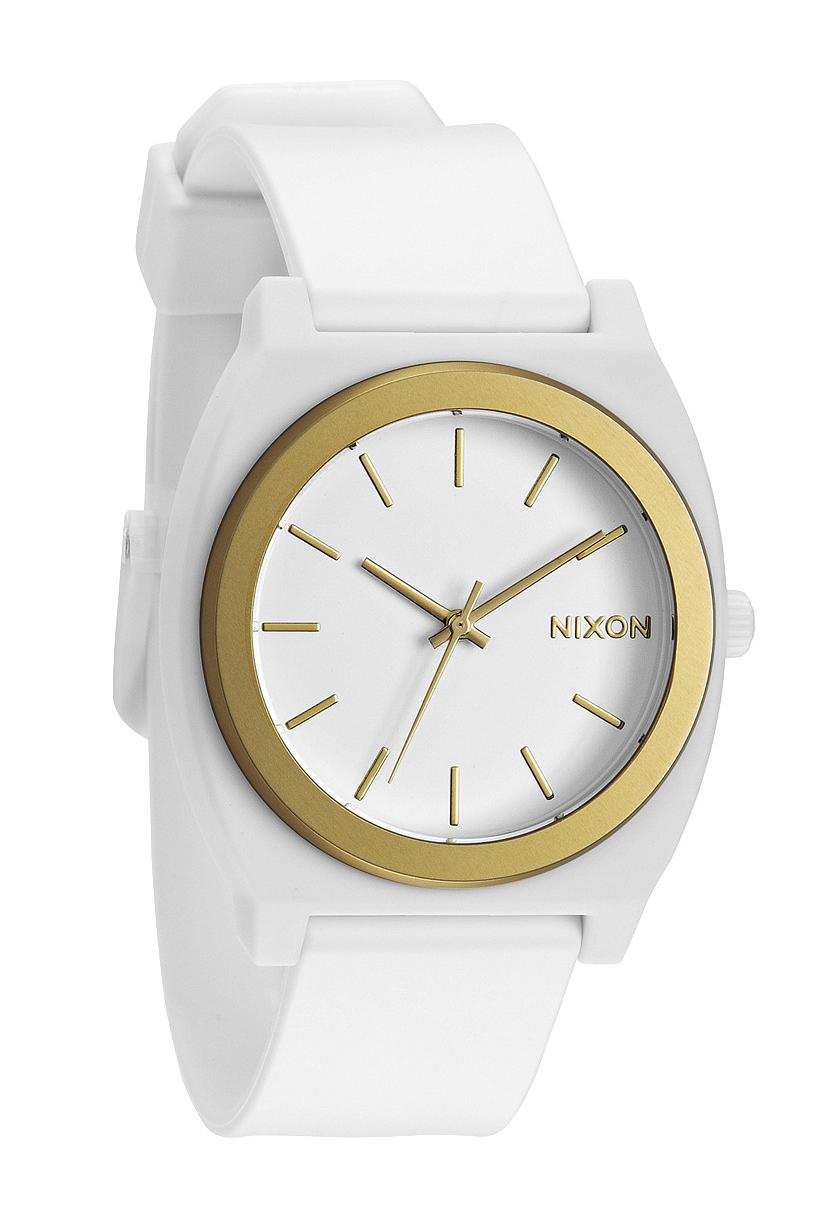 Nixon Watches The Time Teller P White Gold Ano Watch