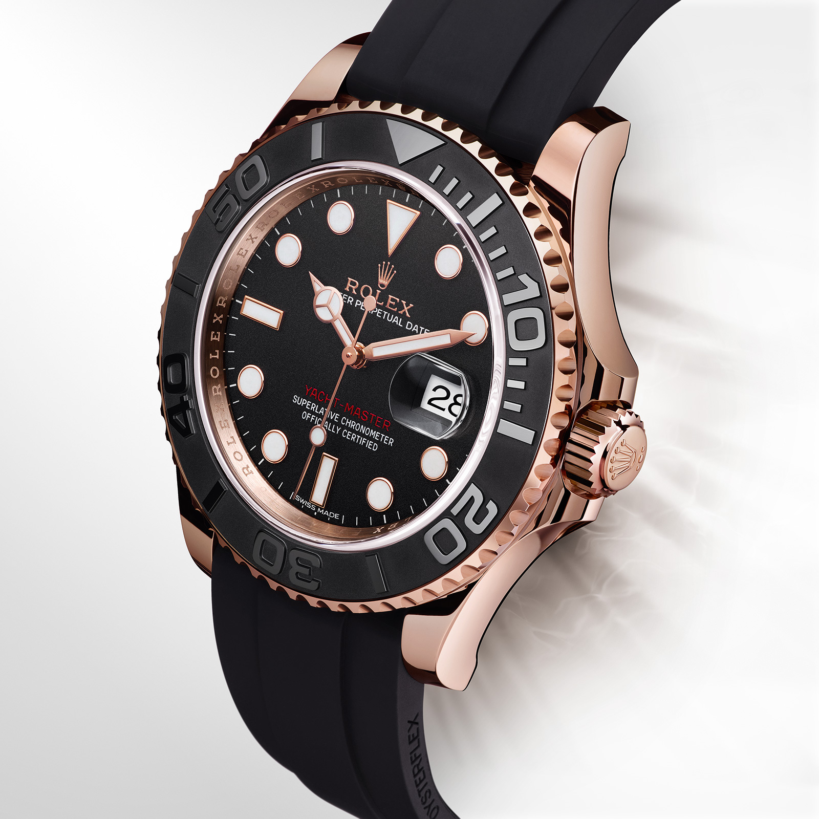 Rolex Rubber Rolex Introduces The Yacht Master Everose With Oysterflex