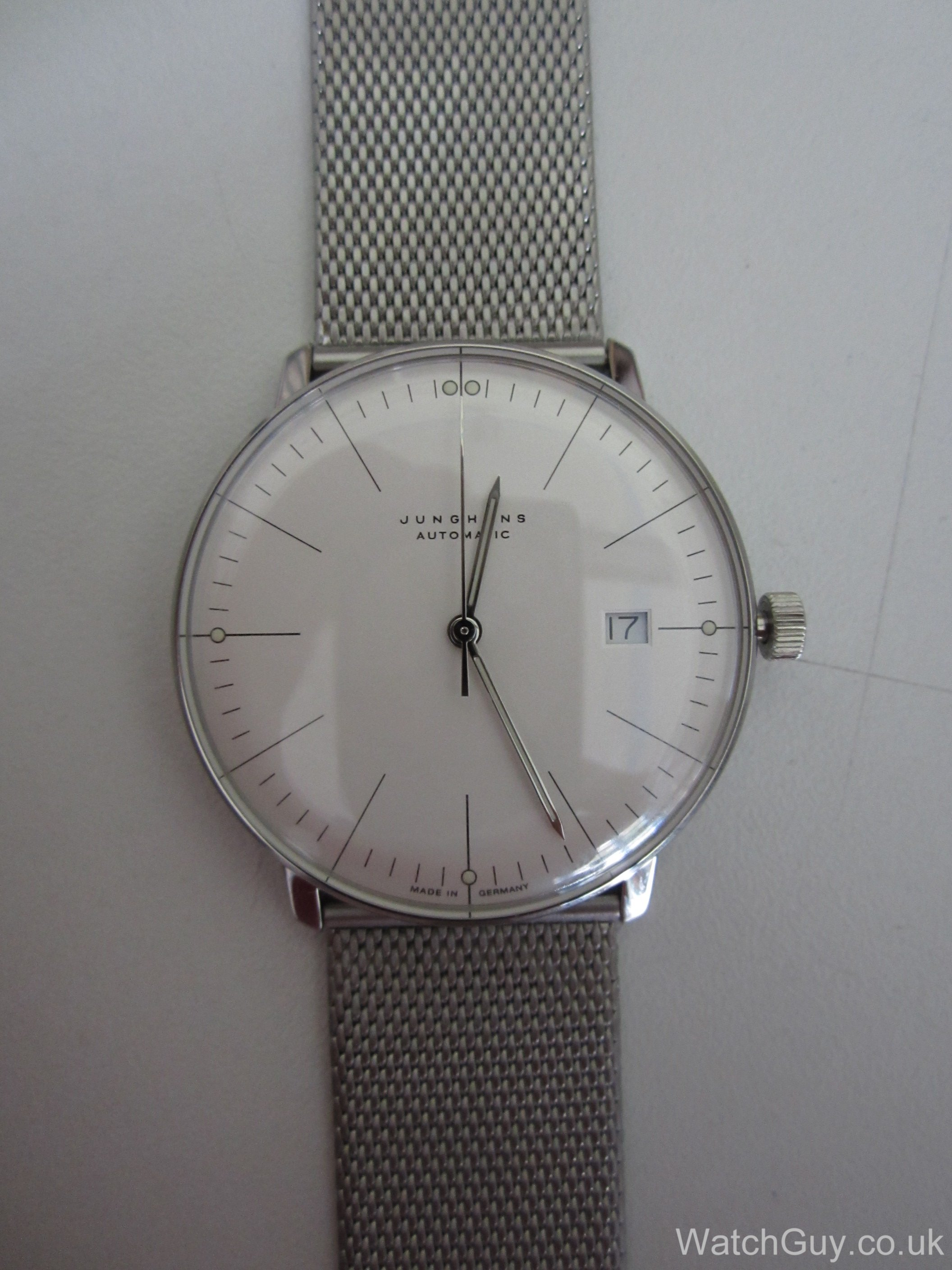 Max Bill Automatic Review Junghans Max Bill Automatic Date 027 4002 44 Calibre J800