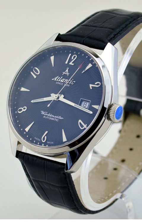 Decoration Nice Atlantic Worldmaster Art Deco Black Dial Automatic Watch