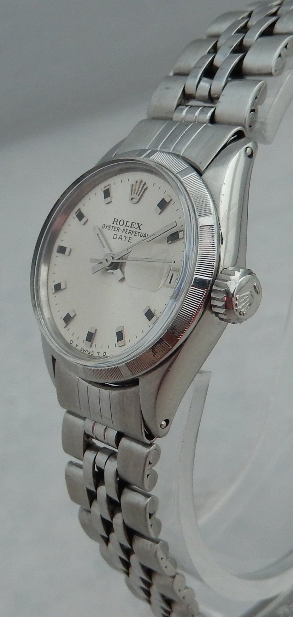 Stainless Rolex Details About Rolex Oyster Perpetual Datejust Stainless Steel Ladies Watch On Rolex Band 1964