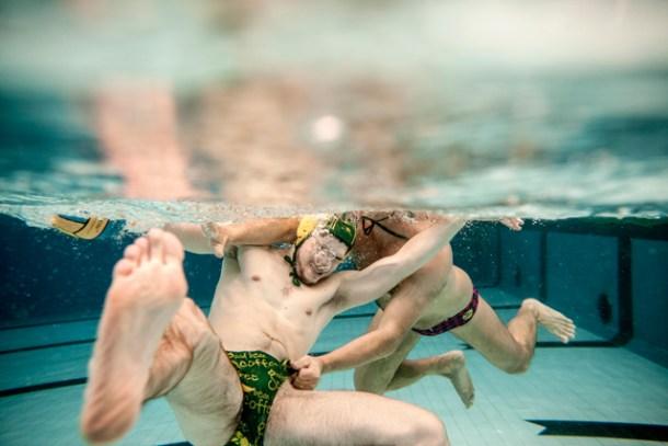 waterpolo: position de l'attaquant et de la contre pointe