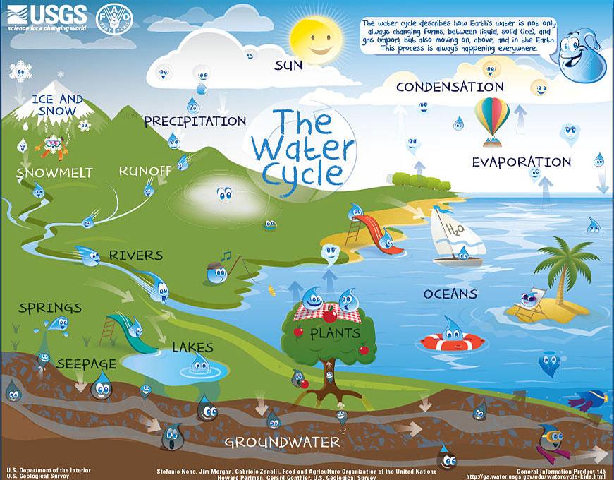 Water Cycle Diagram Sun Wiring Diagram