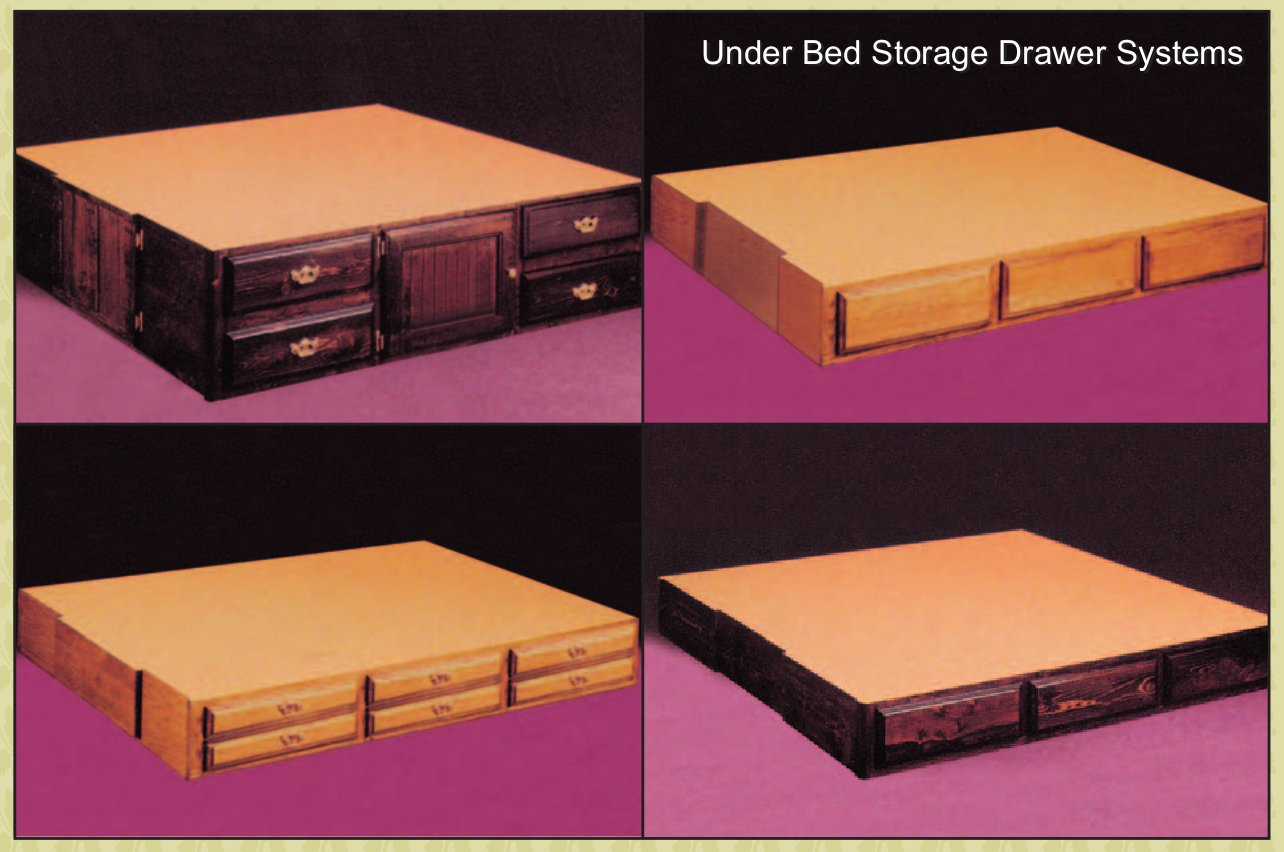Under Bed Storage Frame Pinewood Solid Pine Hardside Waterbed Bed Frame