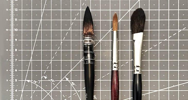 Watercolor Brush Size Chart  Free PDF!