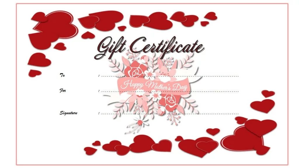Mother\u0027s Day Gift Certificate Templates 10+ BEAUTIFUL DESIGNS FREE
