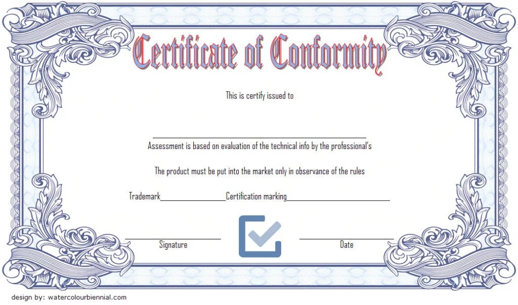 Certificate of Conformity Templates 7+ New Designs