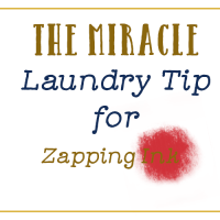 Laundry Tip for Zapping Ink Stains