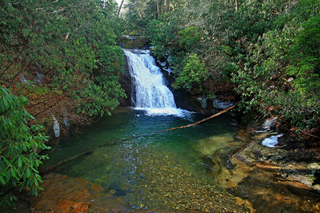 Fall Wooded Wallpaper Blue Hole Falls Waterfalls In Georgia
