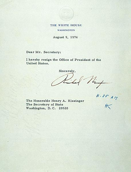 Nixon Resignation Letter. 65 best watergate images on pinterest ...