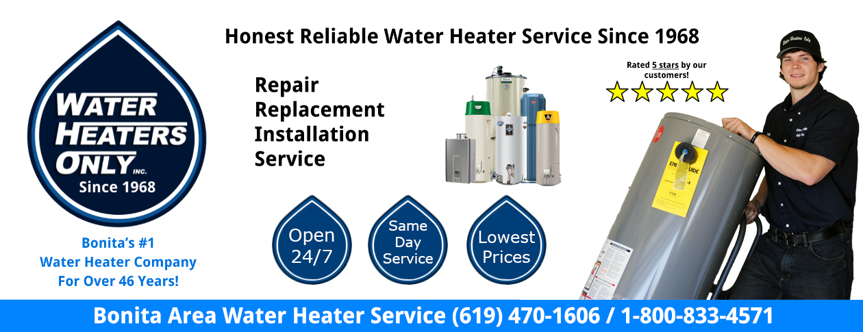 Bonita Water Heater Service Water Heaters Only, Inc