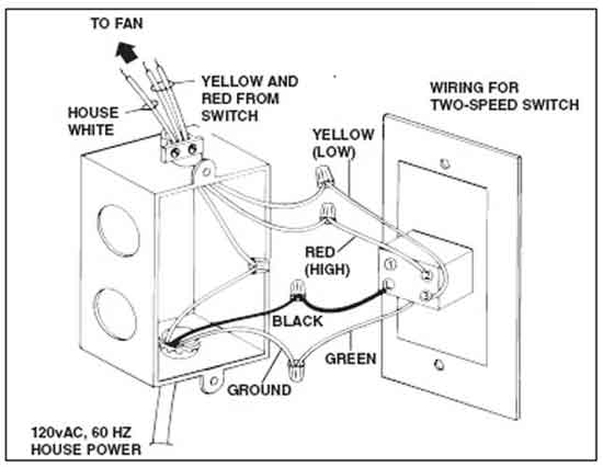 attic fan switch wiring diagram