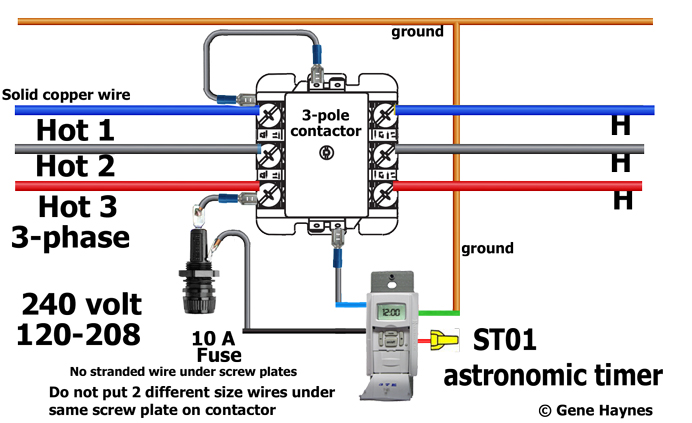 Contactor Wiring 208 wiring diagram panel