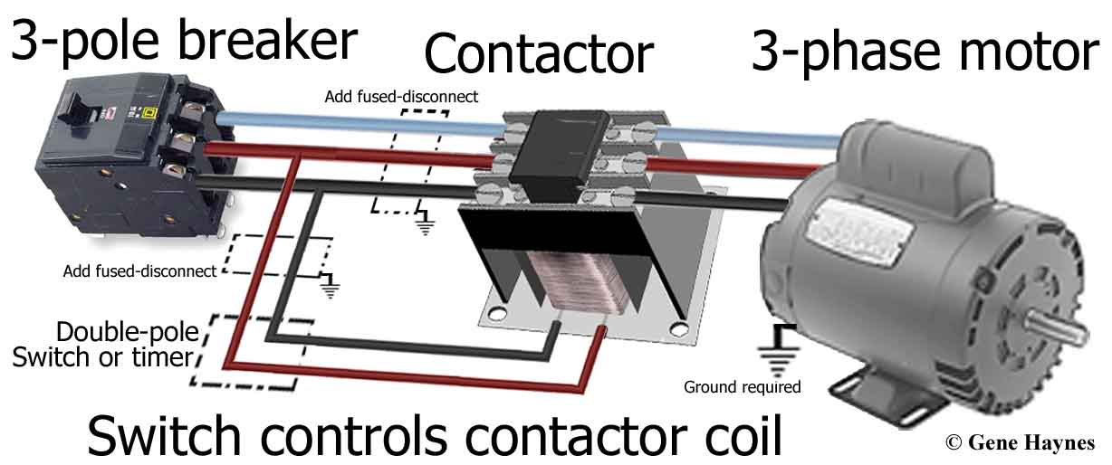 how to wire a contactor for 3 phase motor pdf caferacersjpg com 3 phase lighting wiring diagram 3 pole contactor wiring diagram wire center