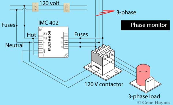 How to wire phase monitor