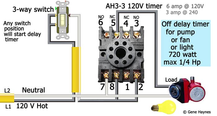 How to wire AH3-3 timer