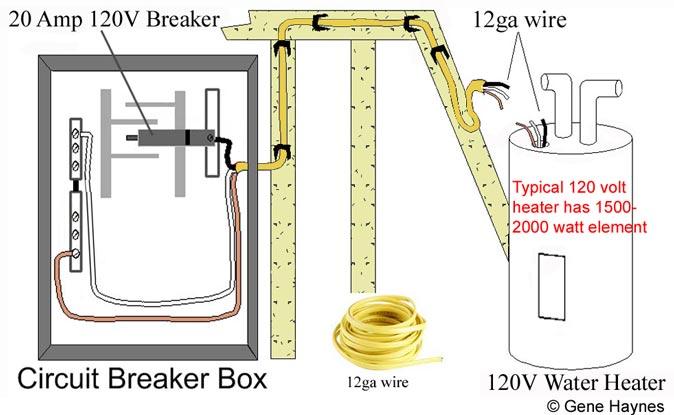 Basic 240  120 Volt Water Heater Circuits
