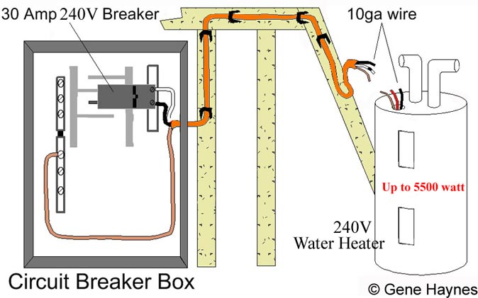 Basic 240  120 Volt Water Heater Circuits