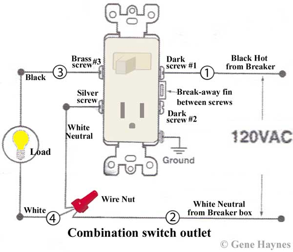 wiring with switch electric outlet light on same switch electrical