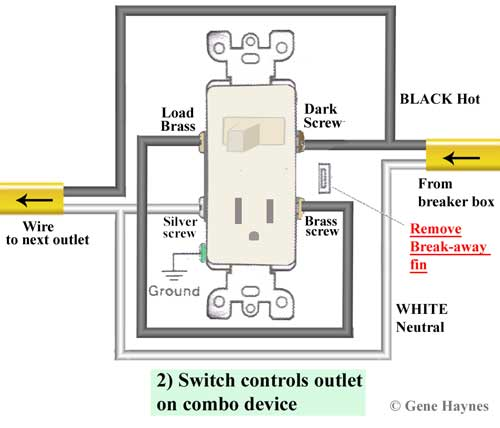 Wiring A Switch Plug Combo Better Wiring Diagram Online