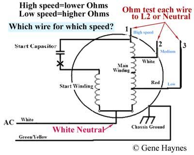 How to wire 3-speed fan switch