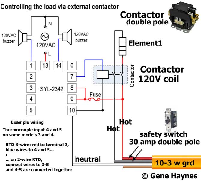 Control gas water heater with electric thermostat