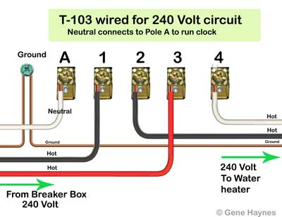 How to wire T103 timer