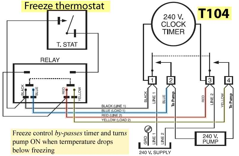 How to wire Intermatic PF1112 freeze control