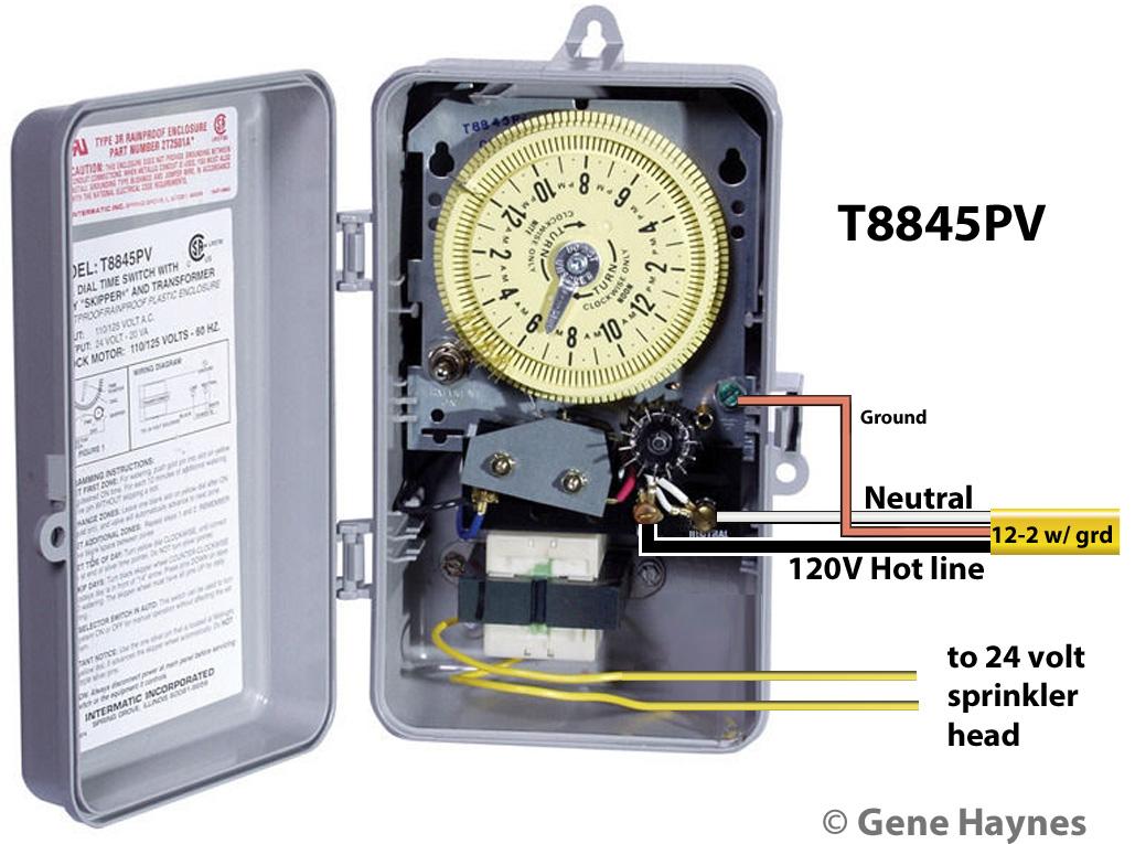intermatic sprinkler timer wiring diagram