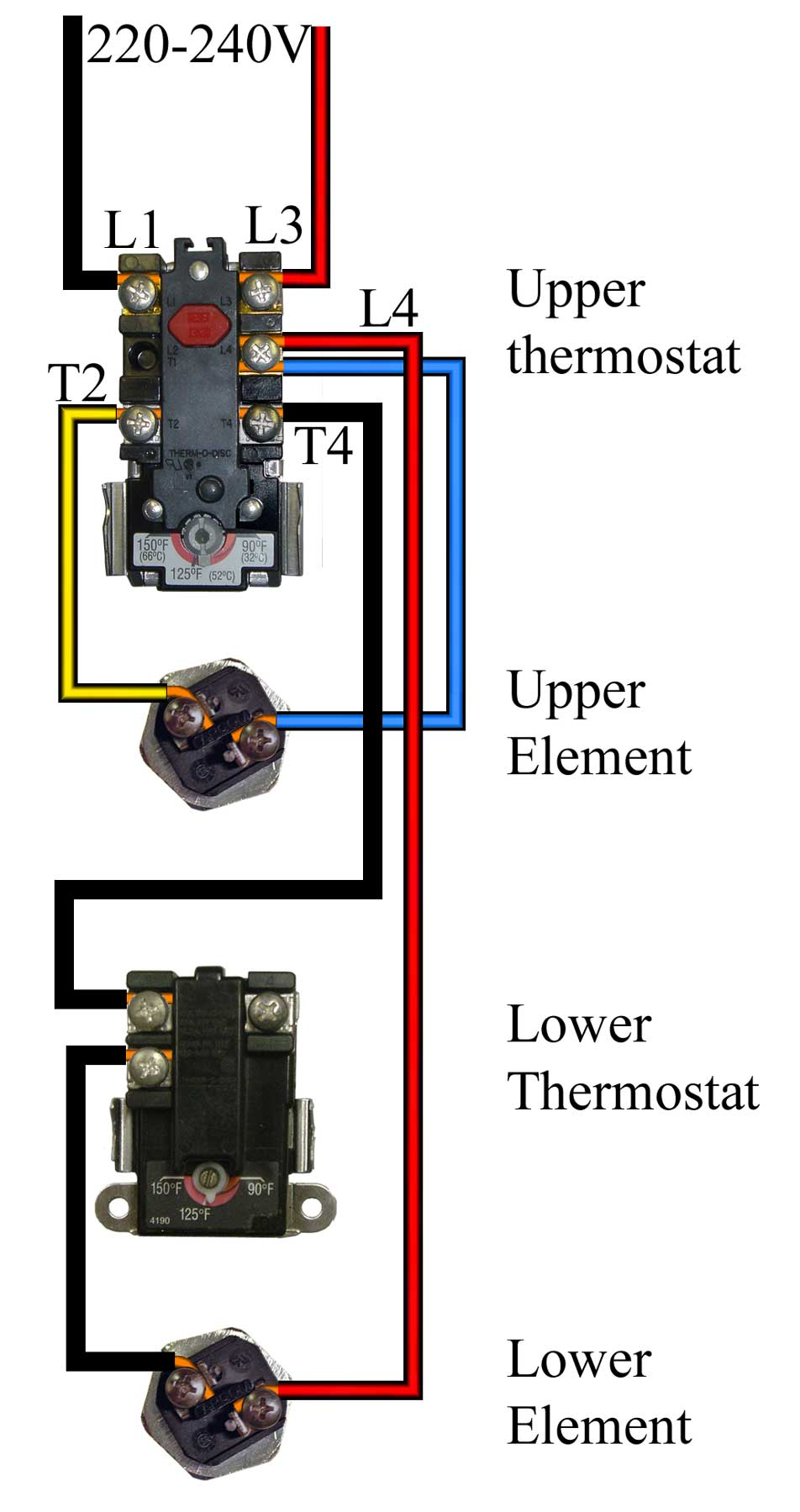 propane water heater wiring diagram