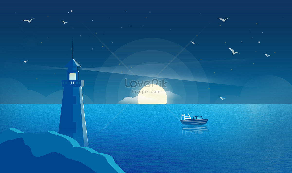 Lighthouse Background The Background Of The Sea Lighthouse Backgrounds Image Picture