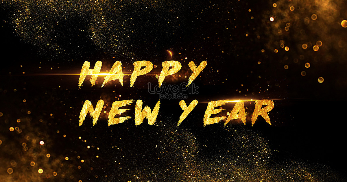Black gold atmosphere happy new year backgrounds image_picture free