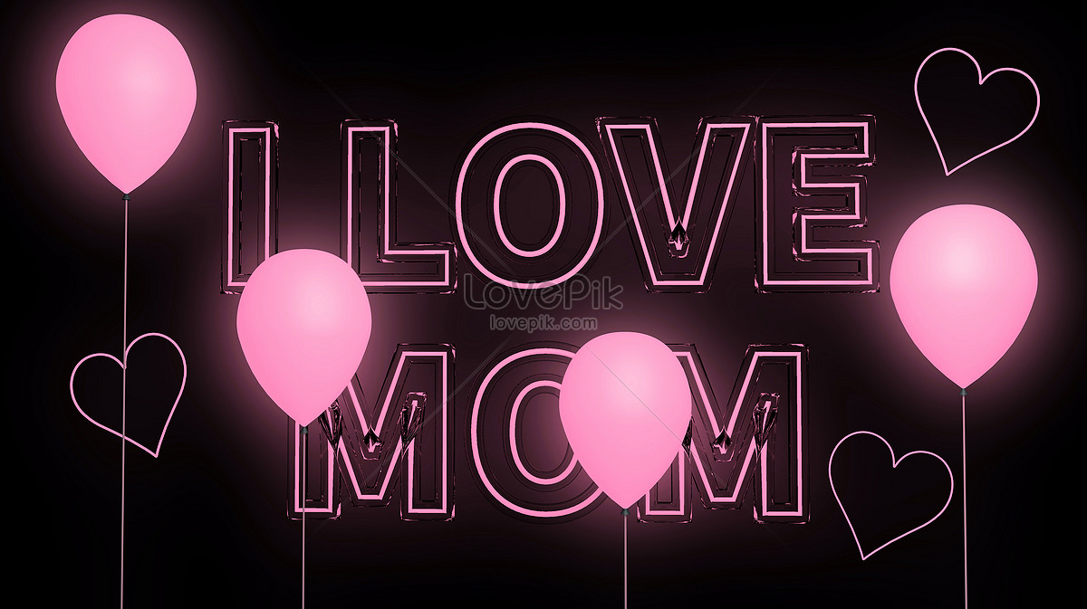 Neon Lamp Mothers Day Neon Lamp Creative Image Picture Free Download