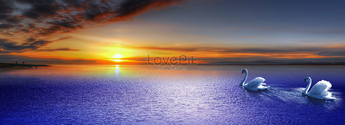 Aesthetical ocean background creative image_picture free download