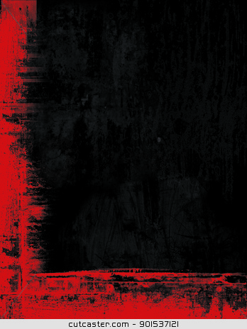 Grunge border frame background texture - black and red stock photo - black border background