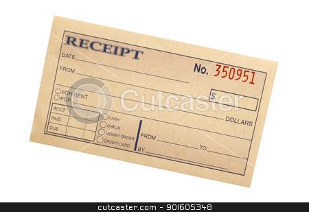 blank receipt stock photo - blank reciept