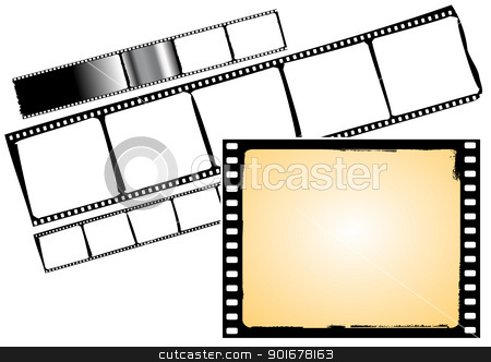 film strip and frame stock vector